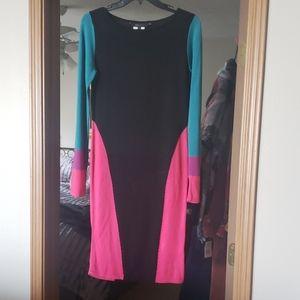 New BCBG Color Block Dress